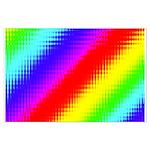 Rainbow Stripes Pattern Large Poster