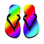 Rainbow Stripes Pattern Flip Flops