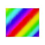 Rainbow Stripes Pattern Throw Blanket