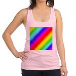 Rainbow Stripes Pattern Racerback Tank Top