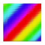 Rainbow Stripes Pattern Tile Coaster