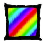 Rainbow Stripes Pattern Throw Pillow
