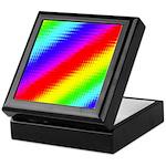 Rainbow Stripes Pattern Keepsake Box