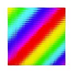 Rainbow Stripes Pattern Queen Duvet
