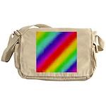 Rainbow Stripes Pattern Messenger Bag