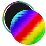 Rainbow Stripes Pattern Magnet