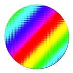 Rainbow Stripes Pattern Round Car Magnet