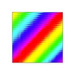 Rainbow Stripes Pattern Square Sticker 3