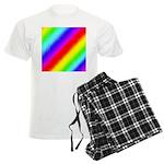 Rainbow Stripes Pattern Men's Light Pajamas