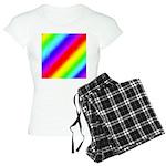 Rainbow Stripes Pattern Women's Light Pajamas