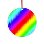 Rainbow Stripes Pattern Ornament (Round)