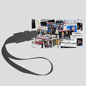 Barack Obama 2012 Re-Election Collage Large Luggag