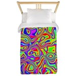 Rainbow Oil Psychedelic Pattern Twin Duvet