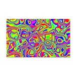 Rainbow Oil Psychedelic Pattern 20x12 Wall Decal