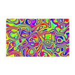 Rainbow Oil Psychedelic Pattern 35x21 Wall Decal