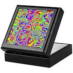 Rainbow Oil Psychedelic Pattern Keepsake Box