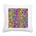 Rainbow Oil Psychedelic Pattern Square Canvas Pill