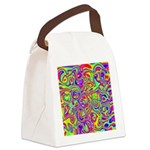 Rainbow Oil Psychedelic Pattern Canvas Lunch Bag