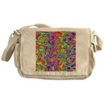 Rainbow Oil Psychedelic Pattern Messenger Bag