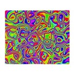 Rainbow Oil Psychedelic Pattern Throw Blanket