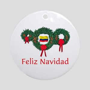 Colombia Christmas 2 Ornament (Round)