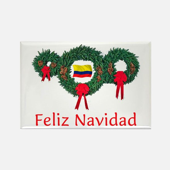 Colombia Christmas 2 Rectangle Magnet