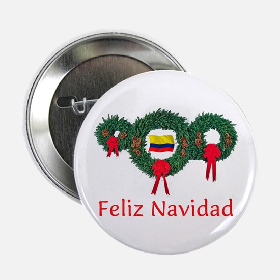 """Colombia Christmas 2 2.25"""" Button"""