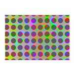 Psychedelic Rainbow Spots Pattern 5'x7'Area Rug