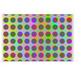Psychedelic Rainbow Spots Pattern Large Poster