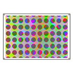 Psychedelic Rainbow Spots Pattern Banner