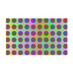 Psychedelic Rainbow Spots Pattern 35x21 Wall Decal