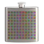 Psychedelic Rainbow Spots Pattern Flask