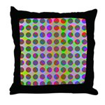 Psychedelic Rainbow Spots Pattern Throw Pillow