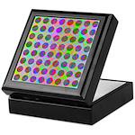 Psychedelic Rainbow Spots Pattern Keepsake Box