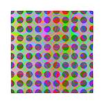 Psychedelic Rainbow Spots Pattern Queen Duvet