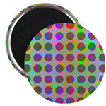 Psychedelic Rainbow Spots Pattern Magnet