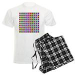 Psychedelic Rainbow Spots Pattern Men's Light Paja