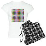 Psychedelic Rainbow Spots Pattern Women's Light Pa