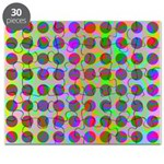 Psychedelic Rainbow Spots Pattern Puzzle