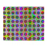 Psychedelic Rainbow Spots Pattern Throw Blanket