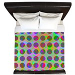 Psychedelic Rainbow Spots Pattern King Duvet