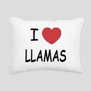 LLAMAS Rectangular Canvas Pillow