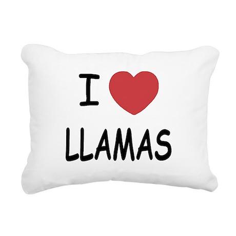 LLAMAS.png Rectangular Canvas Pillow