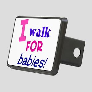 walk4babies01 Rectangular Hitch Cover