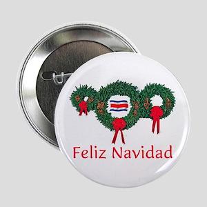 """Costa Rica Christmas 2 2.25"""" Button"""