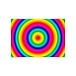 Rainbow Circles Pattern 5'x7'Area Rug