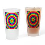 Rainbow Circles Pattern Drinking Glass