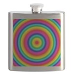 Rainbow Circles Pattern Flask