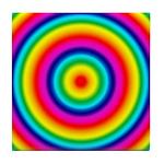 Rainbow Circles Pattern Tile Coaster
