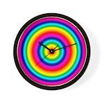 Rainbow Circles Pattern Wall Clock